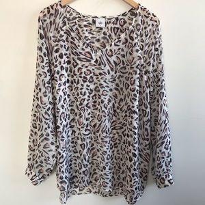 Cabi Glamour Leopard Blouse #5337